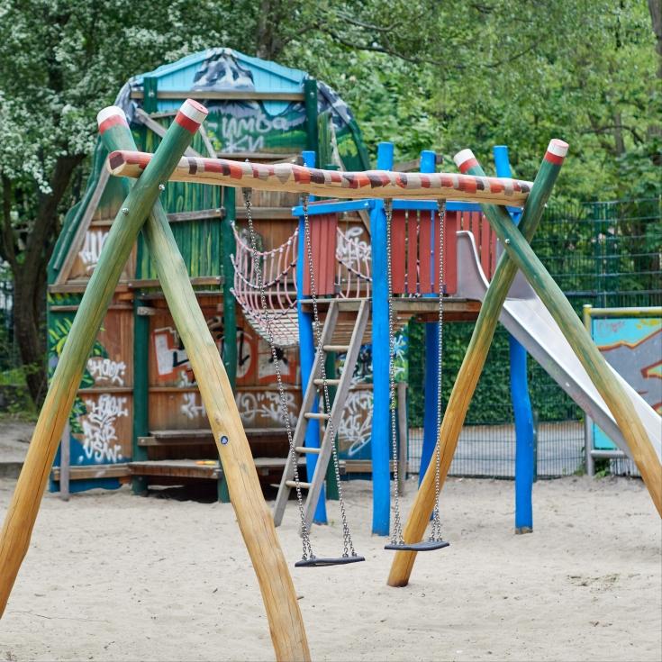 Bild 2: Lokomotivspielplatz