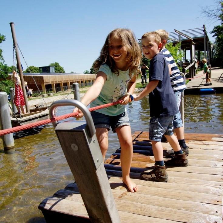 Bild 3: Wasserspielplatz im Freilichtmuseum
