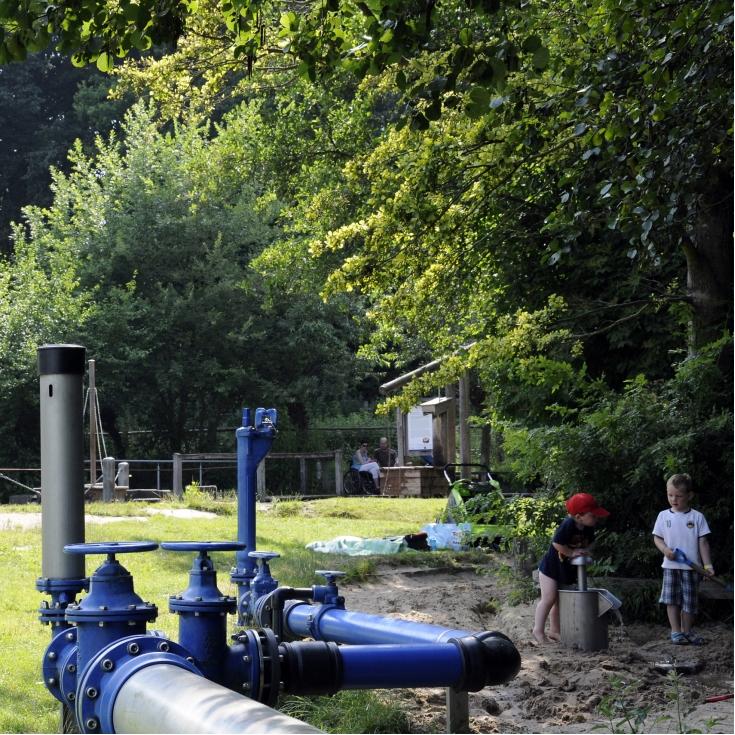 Bild 5: Wasserspielplatz im Freilichtmuseum