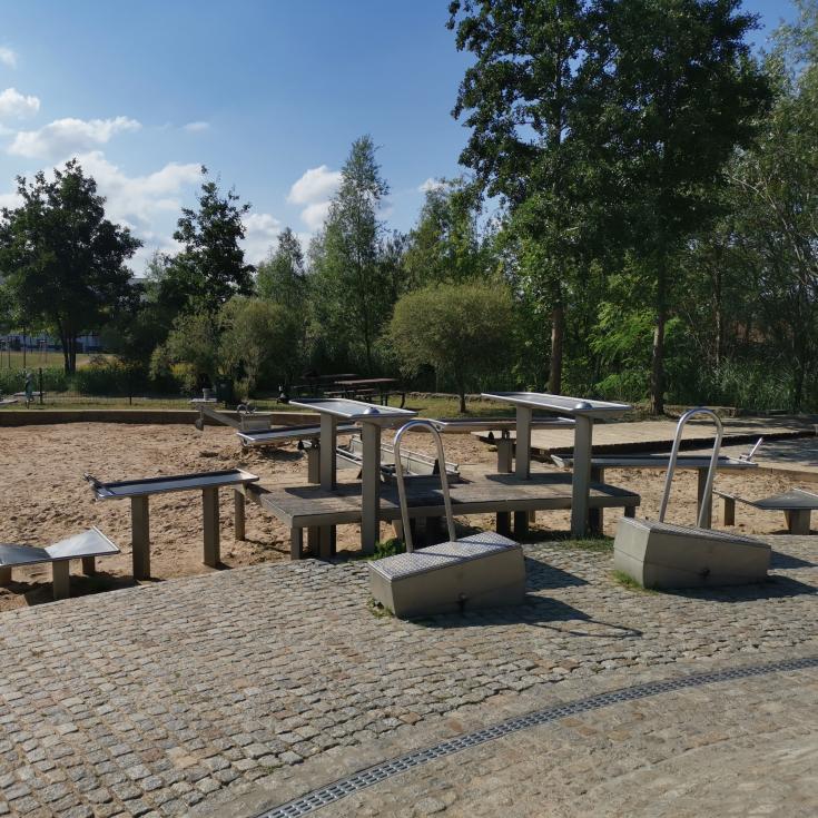 Bild 1: Wasserspielplatz im Grünen Dreieck