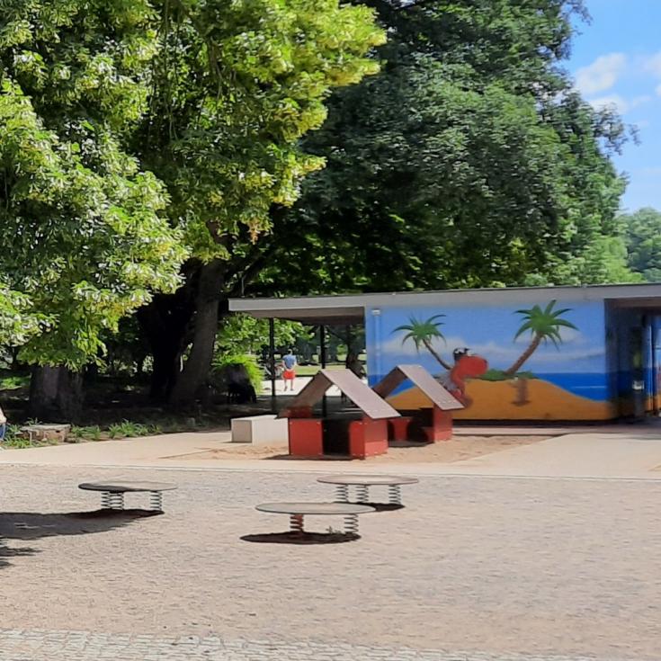 Bild 5: Wasserspielplatz im Volksgarten